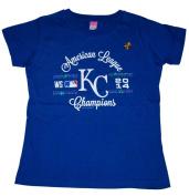 Kansas City Royals LAT Women Blue Sequin 2014 ALCS Champions T-Shirt