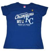 Kansas City Royals Soft as a Grape Women Blue 2014 ALCS Champs T-Shirt