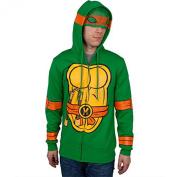 I Am Michelangelo Teenage Mutant Ninja Turtles Zip Up Hoodie X-Large