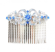 Hair Comb Gorgeous Sapphire Colour Blue Crystal Bridesmaid Wedding Party Prom