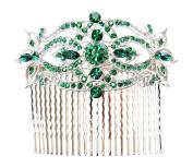 Huge Hair Comb Emerald Colour Green Floral Bridal Bridesmaid Wedding Party