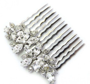 Hair Comb Clear Crystal Bridal Bridesmaid Flower Girl Wedding Party Prom