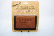 Rico Dallas Stars Leather/Nylon Embossed Tri-Fold Wallet