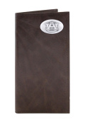 NCAA Auburn Tigers Brown Wrinkle Leather Roper Concho Wallet, One Size