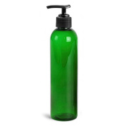 Royal Massage Empty Massage Oil Bottle, Jade Green, 240ml
