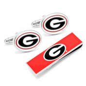 University of Georgia Bulldogs Cufflinks and Money Clip Gift Set