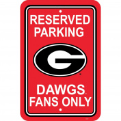 NCAA Georgia Bulldogs Parking Sign