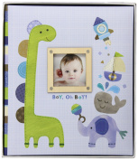 C.R. Gibson Loose-Leaf Memory Book, Boy Oh Boy Multi-Coloured