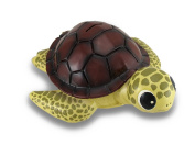 Baby Brown Shell Sea Turtle Coin Bank Statue Childrens Piggy Bank