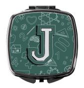 Letter J Back to School Initial Compact Mirror CJ2010-JSCM