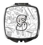 Letter S Musical Note Letters Compact Mirror CJ2007-SSCM