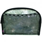 Basics Pvc Oval Clutch, Black/Clear - 1 Bag