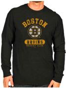 Boston Bruins Retro Brand Charcoal Triblend Long Sleeve T-Shirt