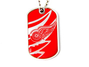 Detroit Red Wings Dog Tag Domed Necklace Charm Chain