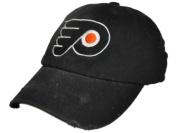Philadelphia Flyers Retro Brand Black Worn Style Flexfit Slouch Hat Cap