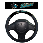 NHL San Jose Sharks Poly-Suede Steering Wheel Cover