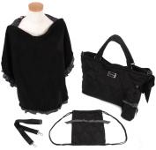 THEA THEA Nappy Bag in Black with Nursing Cape