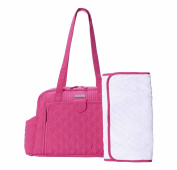 Vera Bradley Make A Change Baby Fuchsia Pink Nappy Bag Carrier Tote