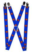 Buckle Down Mens Elastic 2.5cm Wide Clip-End DC Comics Superman Suspenders