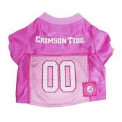 Mirage Pet Products Alabama Crimson Tide Jersey for Dogs and Cats, Medium, Pink