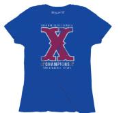 Kansas Jayhawks The Victory Womens Blue 2014 Big 12 Champs X Ten T-Shirt