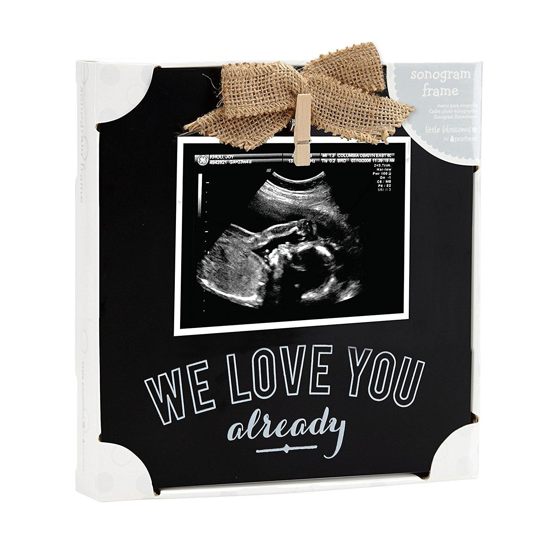 Pearhead We Love You Already Chalkboard Sonogram Photo Frame by ...