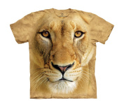 The Mountain 4470572 Big Face Lioness Usa Kids T Shirt, Large