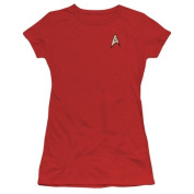 Trevco Star Trek-Engineering Uniform - Short Sleeve Junior Sheer Tee - Red, 3X