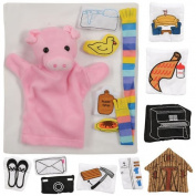 If You Give A Pig a Pancake Puppet & Props Set
