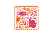 Happy Chic by Jonathan Adler Party Elephant Wall Art