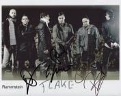 Rammstein FULLY SIGNED Photo 1st Generation PRINT Ltd 150 + Certificate