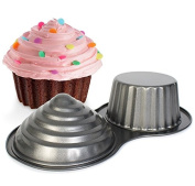 3D Jumbo Giant Cupcake Tin Pan Non Stick Cup Cake Mould By Cookbuyer