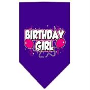Mirage Pet Products Birthday Girl Screen Print Bandana for Pets, Large, Purple