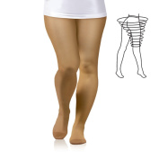 PLUS SIZE 23-32 mmHg MEDICAL GRADE Compression Pantyhose, CCL2 Support Tights with Closed Toe Class II (Large)