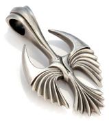 Bico Seraphi Pendant (E314) - the fiery soul, an angel - Satin Silver Finished Signature Design Tribal Street Jewellery