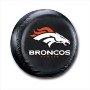 NFL Denver Broncos Tyre Cover, Standard, Black