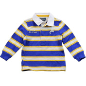 Polo Ralph Lauren Infant Boy's Striped Rugby Collar Blue Multi Polo Shirt Sz 18M