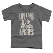 Star Trek Prosper Little Boys Shirt Charcoal SM