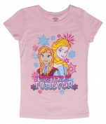 Juniors Frozen Sisters Forever Pink Short-Sleeve T-Shirt - 4