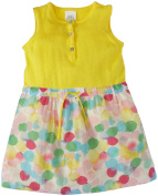 Egg by Susan Lazar Knit And Silk Cotton Dress (Baby) - Yellow/Multi-6 Months