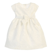Sweet Kids Baby Girls Off White Bouquet Embroidered Organza Easter Dress 24M