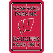 NCAA Wisconsin Badgers Parking Sign