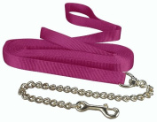 Hamilton 1 Single Thick Nylon Horse Longe Line with Snap 7.9m with 60cm Chain, Wine