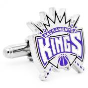 Rhodium Plated Sacramento Kings Cufflinks