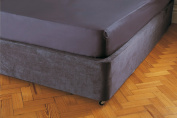 Divan Bed Base Sheet Wrap Valance in Double Bed Size in Charcoal Grey