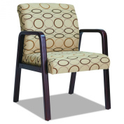 Alera Reception Lounge Series Mahogany/Tan Fabric Guest Chair