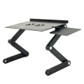 iCraze Adjustable Vented Laptop Table Laptop Computer Desk Portable Bed Tray Book Stand Multifuctional & Ergonomics Design Dual Layer Tabletop