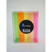 20 Multi Coloured Plastic Test Tube Neon Shot Glasses - 30ml