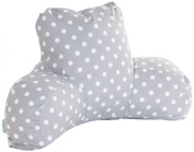 Majestic Home Goods Ikat Dot Reading Pillow - Grey