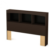 South Shore Step One Full Bookcase Headboard (140cm ), Chocolate